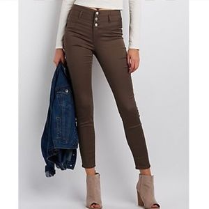 Refuge | Stretchy Brown High Wasit Skinny Jeans